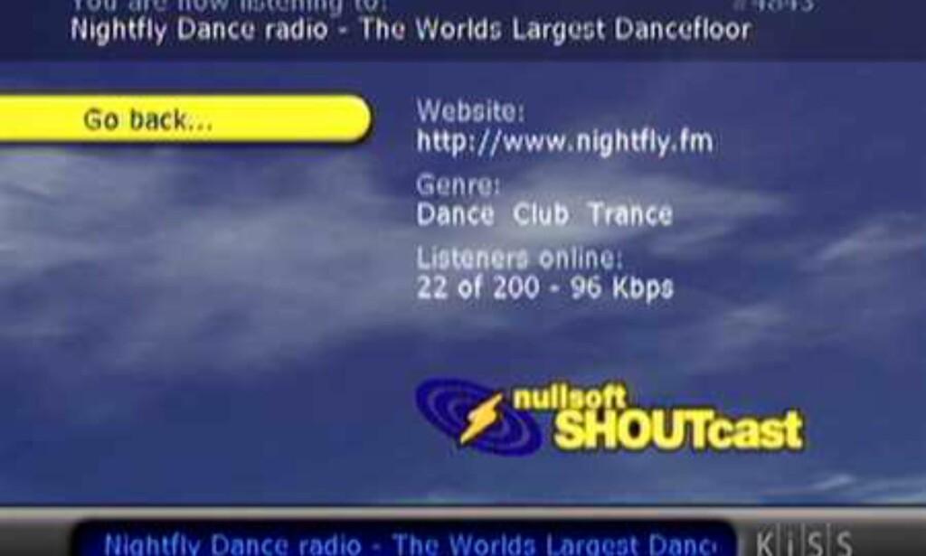 Avspilling av radiostasjon