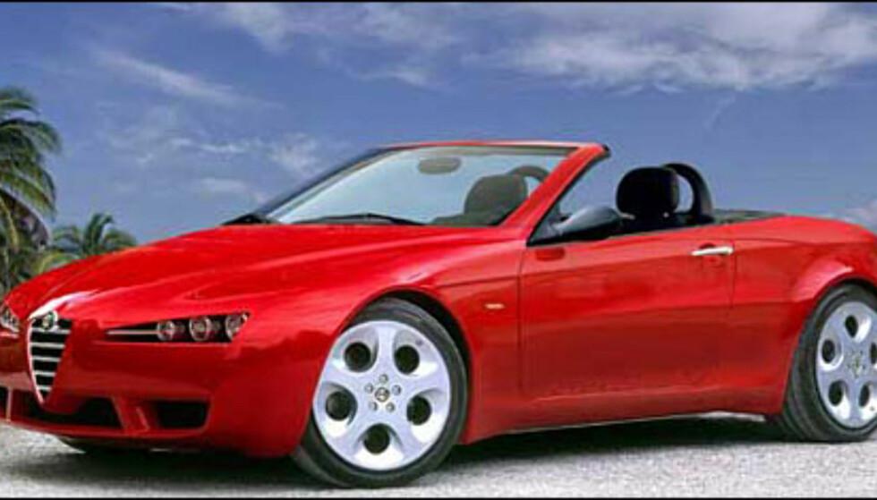 Alfa Romeo Spider dukker opp sent neste år (manipulert bilde).