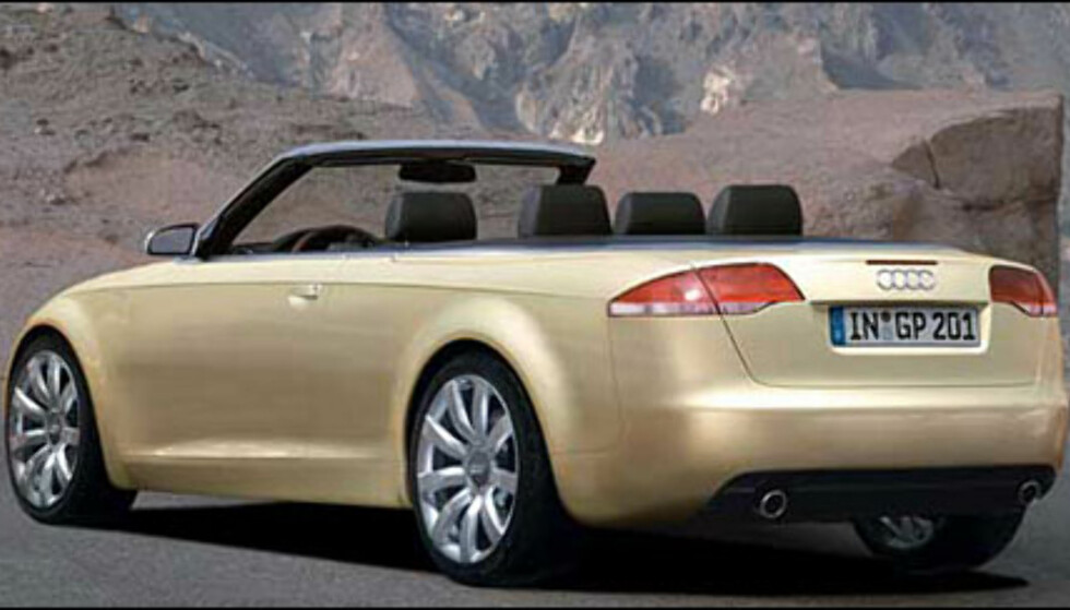 Automedia spår at nye Audi A6 vil dukke opp både som kabriolet og kupe. Kabrioleten vil sannsynligvis presenteres våren 2005 (manipulert bilde).