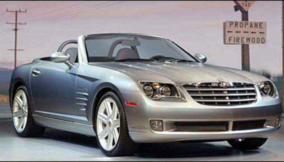 Chrysler Crossfire dukker med stor sannsynlighet opp som kabriolet (manipulert bilde).
