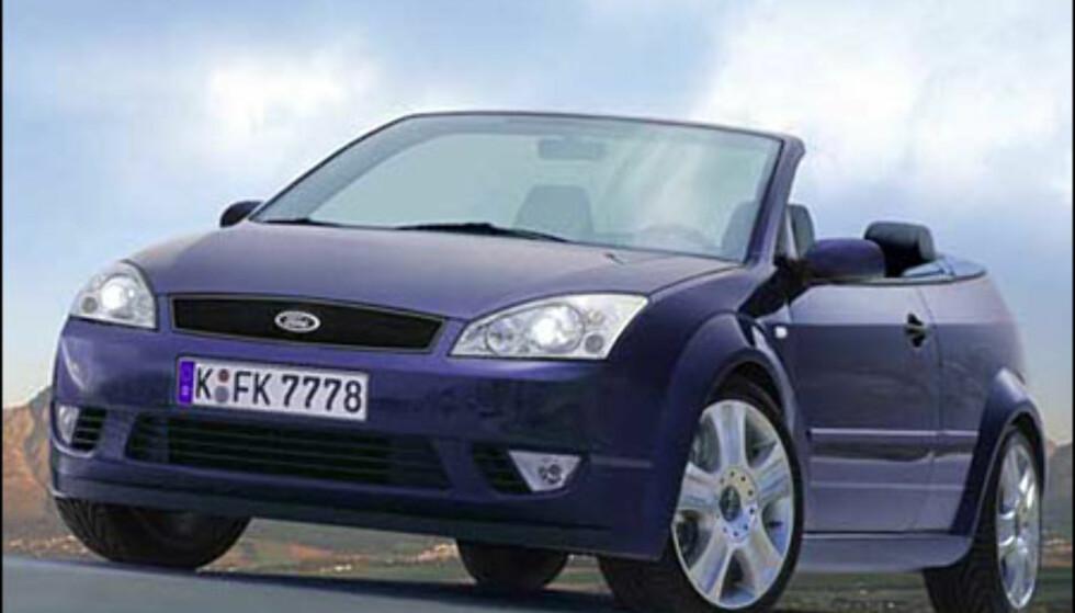 Første åpne Ford Focus kommer på ny plattform. Det blir en kupe-kabriolet som er ventet i 2006 (manipulert bilde).