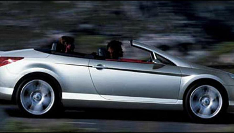 For å plage Audi, BMW og Mercedes lager Peugeot sannsynligvis en kupe-kabriolet av nye 407 (manipulert bilde).