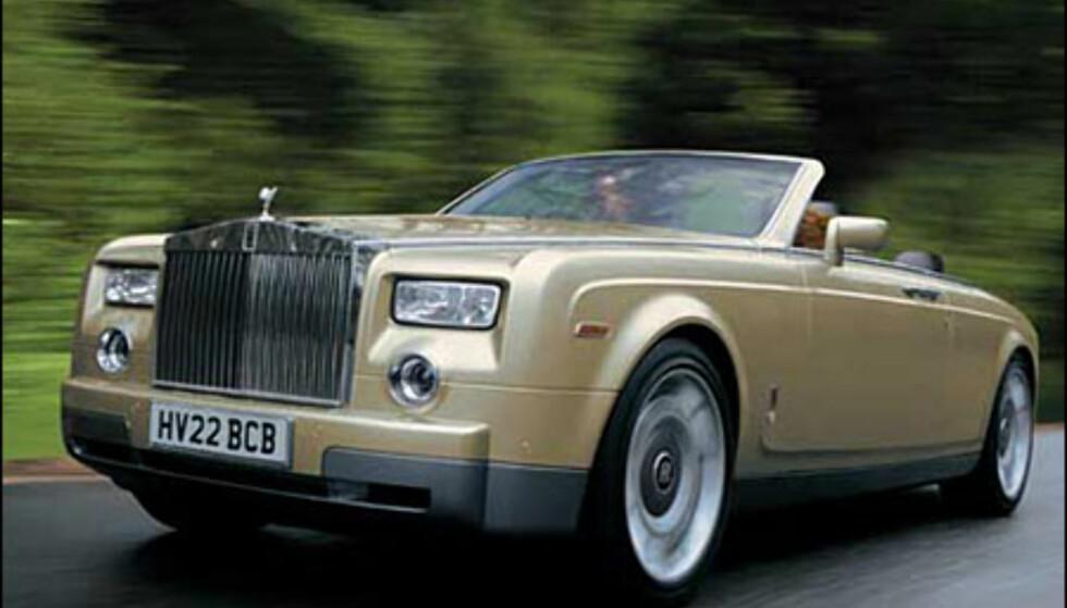 En ny Rolls-Royce kabriolet kan få navnet Corniche. Ventet i 2005 (manipulert bilde).