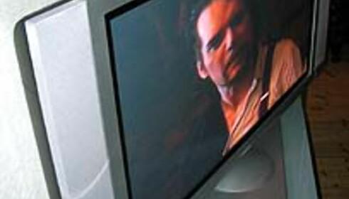 Du kan vri denne TVen fra side til side. Her vises maks vridning.