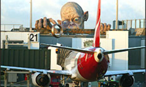 Gollum møter deg på Wellington International Airport.  Foto: Nick Servian