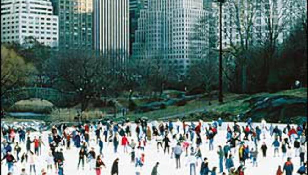 Wollman Rink, skøytebane i Central Park. <I>Bilde: Copyright NYC & Company, Inc.</I> Foto: Copyright NYC & Company, Inc.