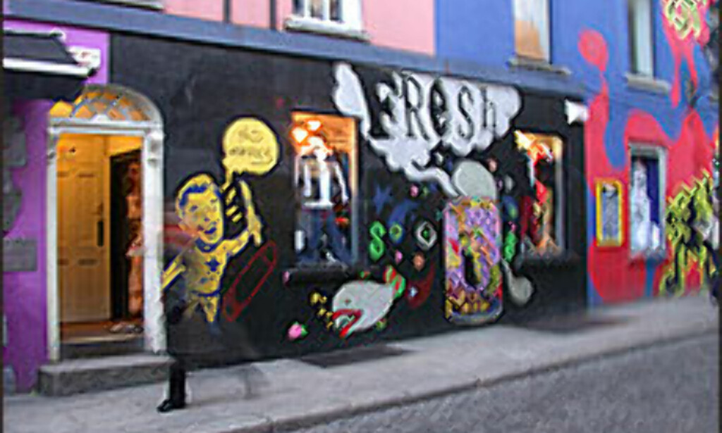 Temple Bar var tidligere en nedslitt og rivingsklar bydel. Nå blomstrer bydelen.<br /> <br /> <I>Foto: Inga Holst</I> Foto: Inga Holst
