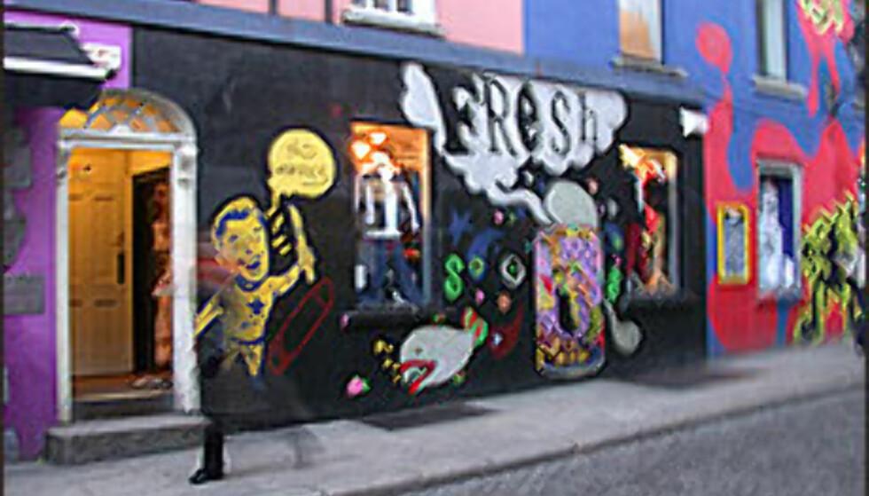 Temple Bar var tidligere en nedslitt og rivingsklar bydel. Nå blomstrer bydelen.  Foto: Inga Holst Foto: Inga Holst