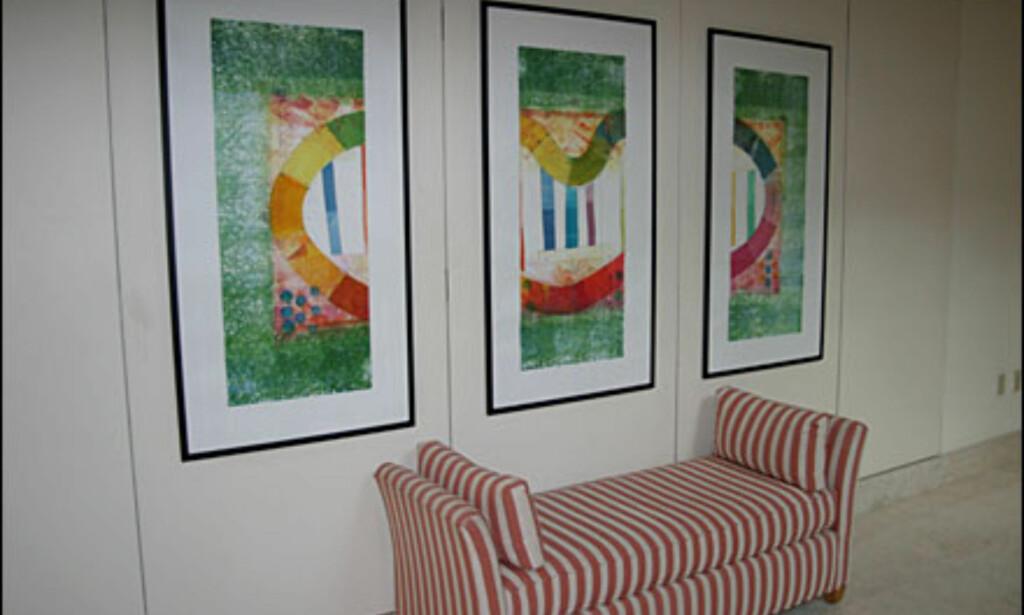 Kunst preger hele hotellet.