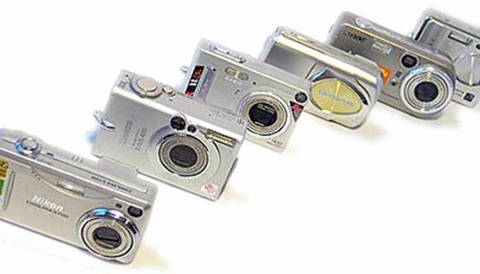 Lommevennlige digitalkameraer