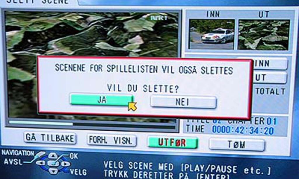 Også deler fra Petter Solbergs store dag kan fjernes.