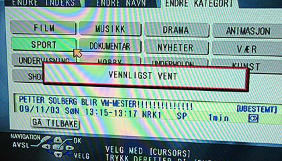Petter Solbergs avsluttende VM-seier markeres i tittelen.