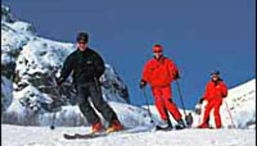 Hemsedal er et av stedene med nok snø til noe drift. <I>Foto: Ski Hemsedal</I> Foto: Ski Hemsedal