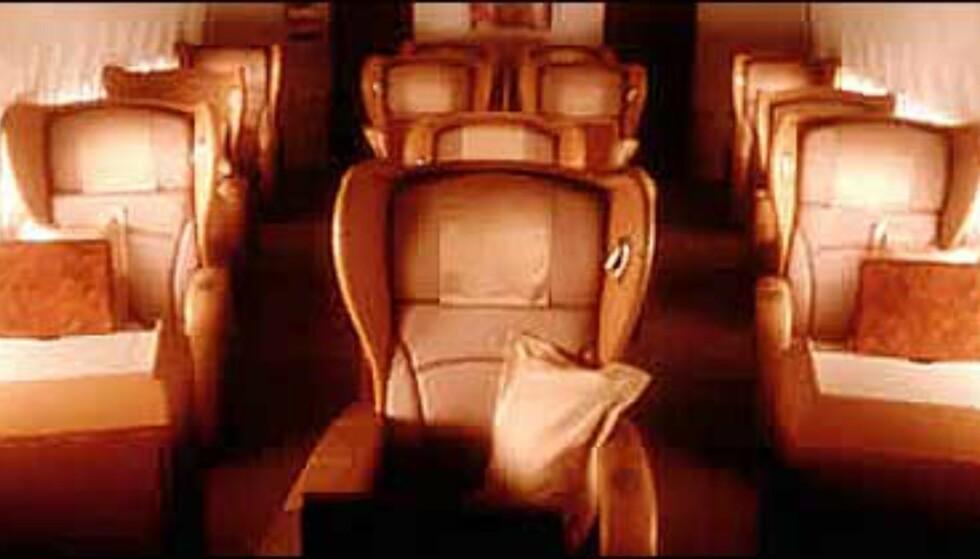 Førsteklasses armslag på Singapore Airlines første klasse. Bilde: Singapore Airlines