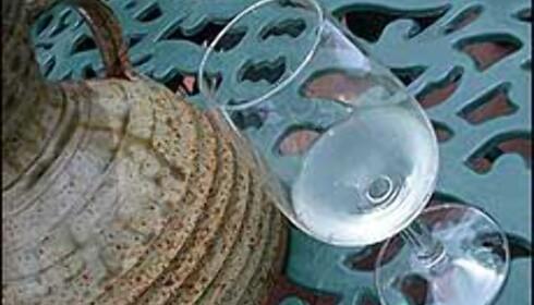 Vinsmaking og glass følges alltid av en bolle eller lignende til å spytte i, som her på Augusta utenfor Franschhoek.