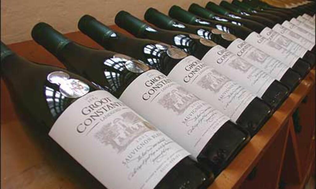 Viner fra landets eldste vinfarm, Groot Constantia.