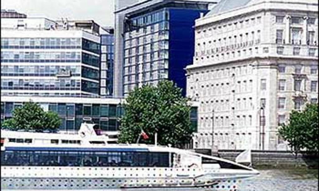 City Inn i London - god utnyttelse av liten plass på en tomt ved Themsen.