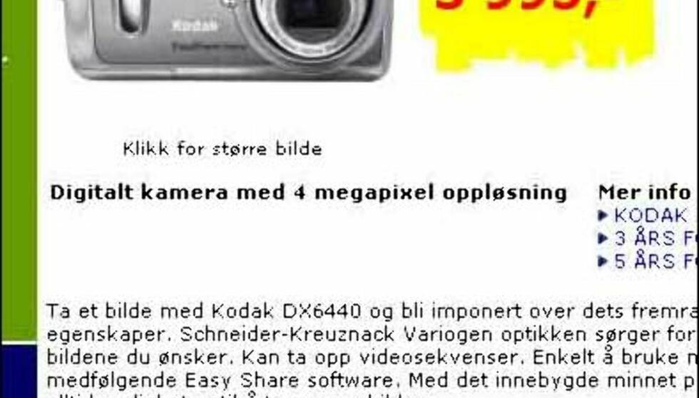 Kjempekamera fra Kodak