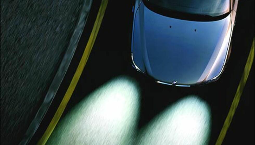 """BMWs """"adaptive kjørelys"""" i aksjon."""