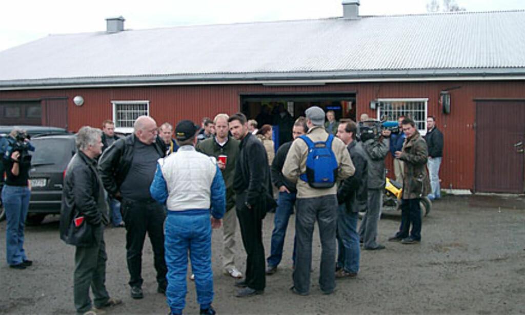 Mange pressefolk tok turen til Spydeberg