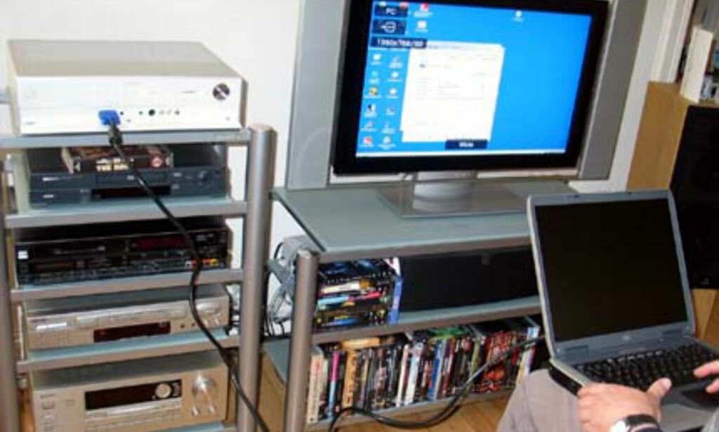 Dessverre et dårlig bilde... Kvaliteten når PCen er koplet til er upåklagelig.