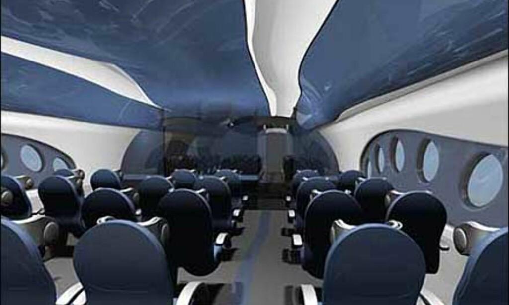 Interiørideer fra Dreamliner. Foto: Boeing