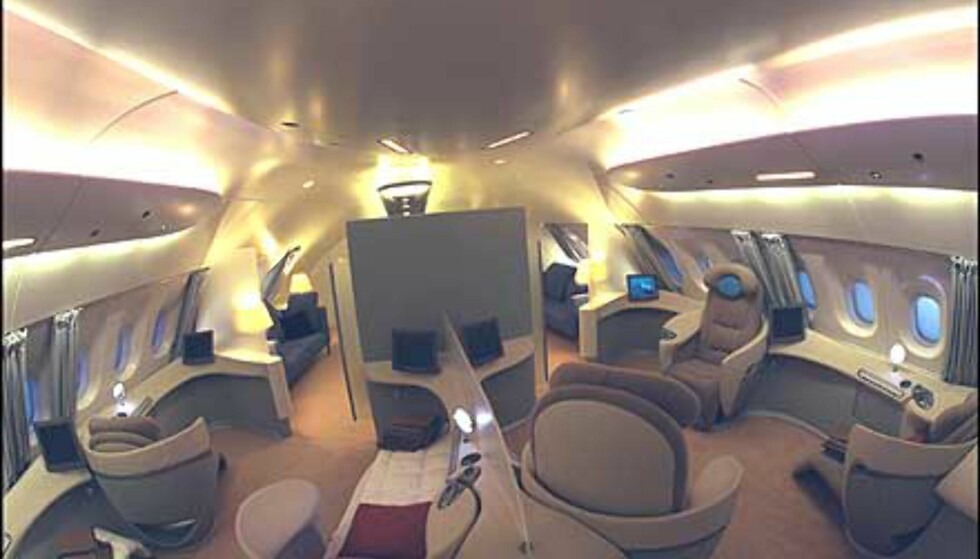 Mer innvendig luksus fra A380. Foto: Airbus
