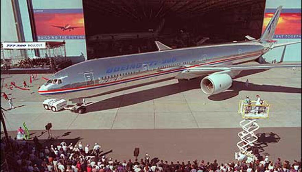Fra avduking av Boeing 777. Foto: Boeing