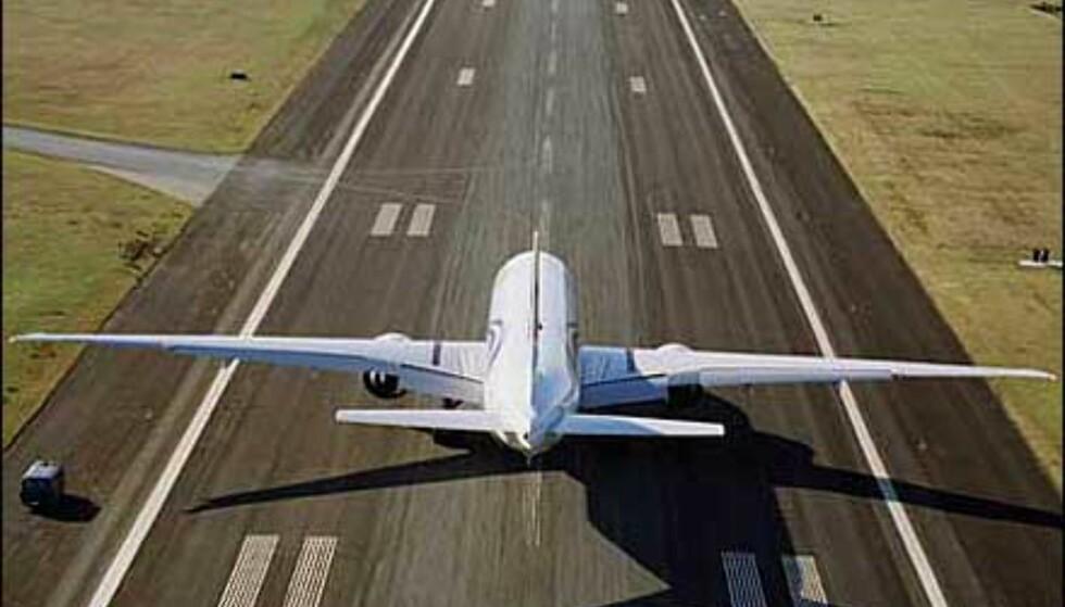 Enormt vingespenn på Boeing 777-300ER. Foto: Boeing