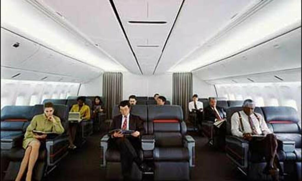 Førsteklasse på Boeing 777. Foto: Boeing