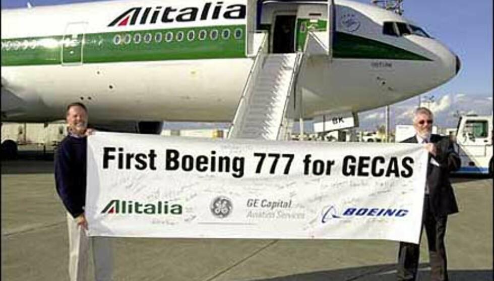 Alitalia er et av selskapene som satser på Boeings 777-serie. Foto: Boeing