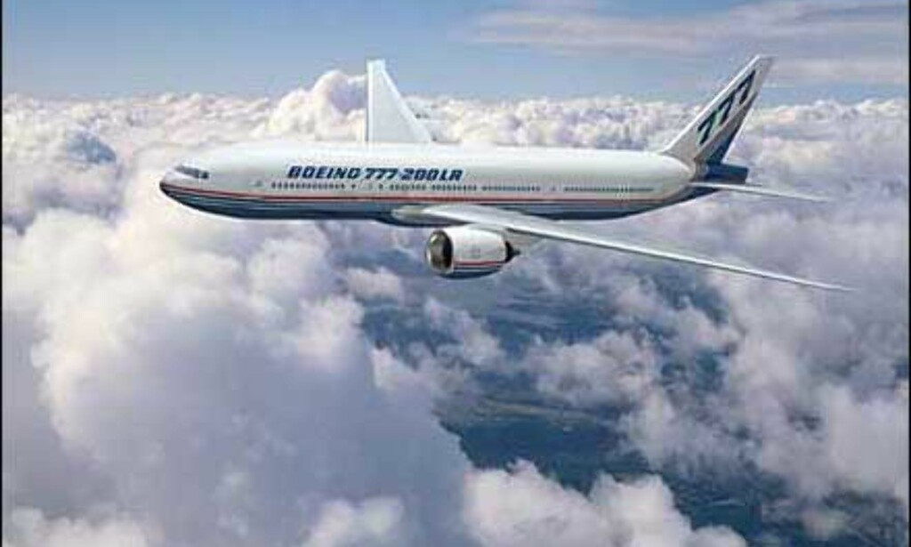 Boeing 777-200LR i lufta. Foto: Boeing