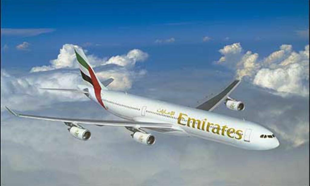 Airbus A340-500 er valgt blant annet av Emirates. Foto: Airbus
