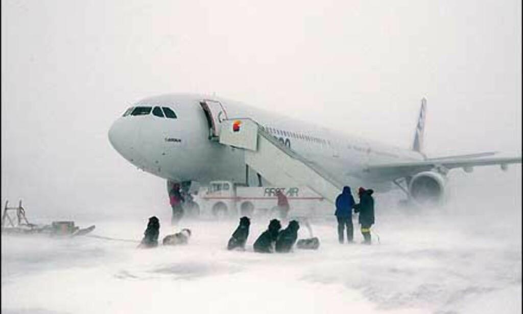 Kaldværstest av A340. Foto: Airbus