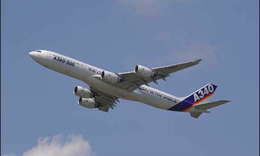 A340-500 i lufta.