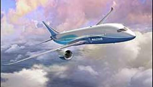 Boeings Dreamliner illustrert av selskapet selv. Foto: Boeing