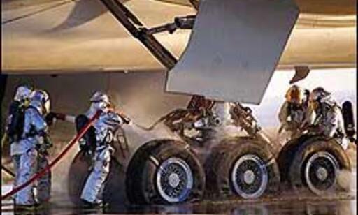 Enorme dimensjoner. Dette viser hjulene etter testing av nødbremsing av Boeing 777-300ER.