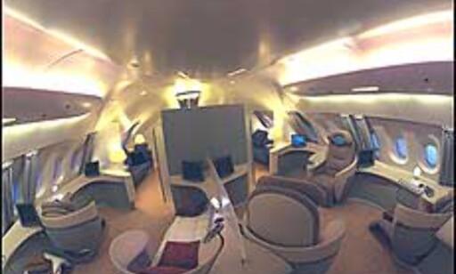 Med A380 foreslår Airbus spennende løsninger innvendig. Foto: Airbus