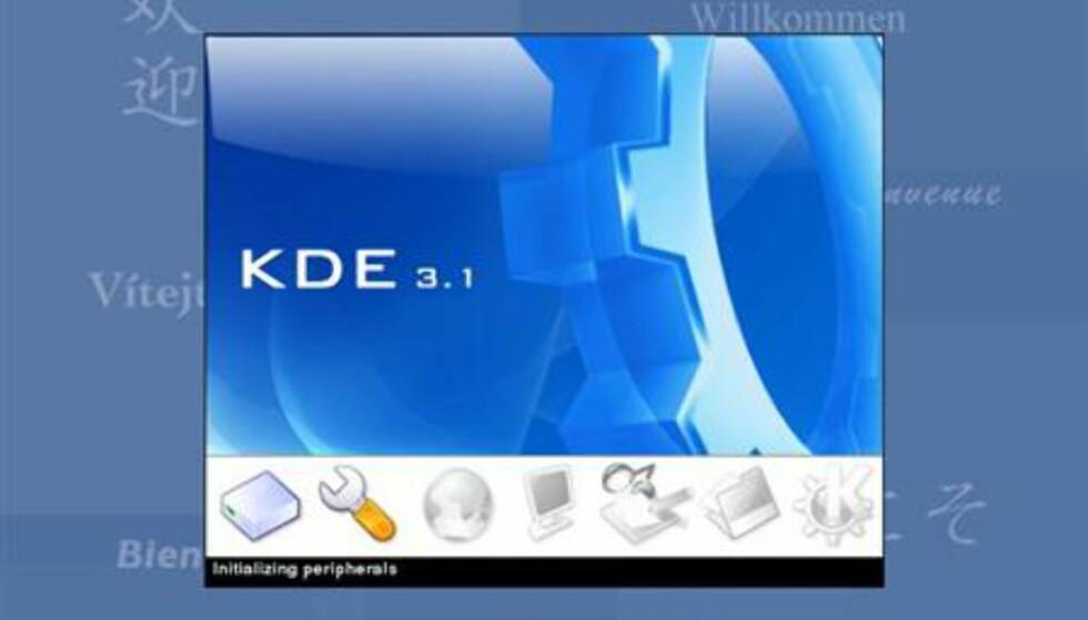 Her startes SuSE Linux for første gang.