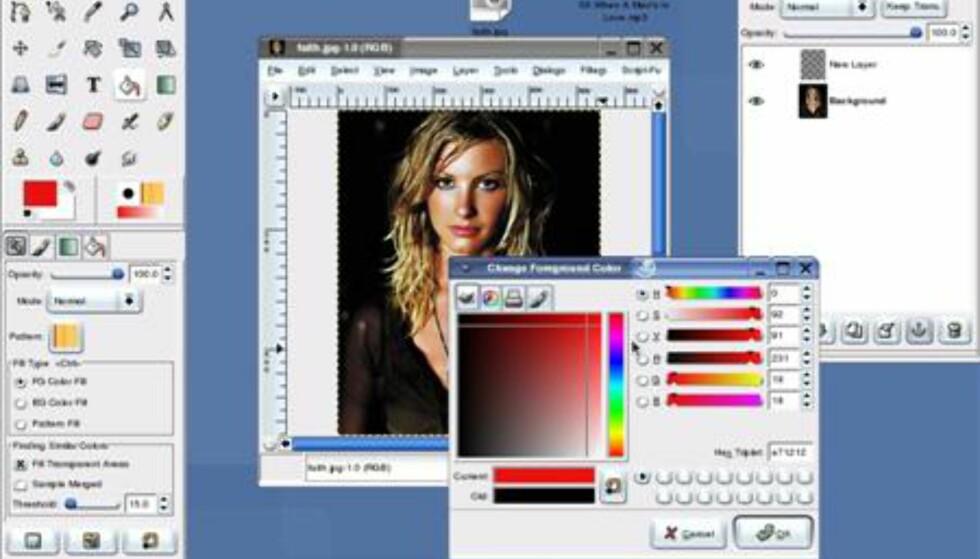 Med den nyeste versjonen av The Gimp får du tilgang til mange funksjoner som tidligere bare har vært tilgjengelig i dyre bildeprogrammer som Adobe Photoshop.