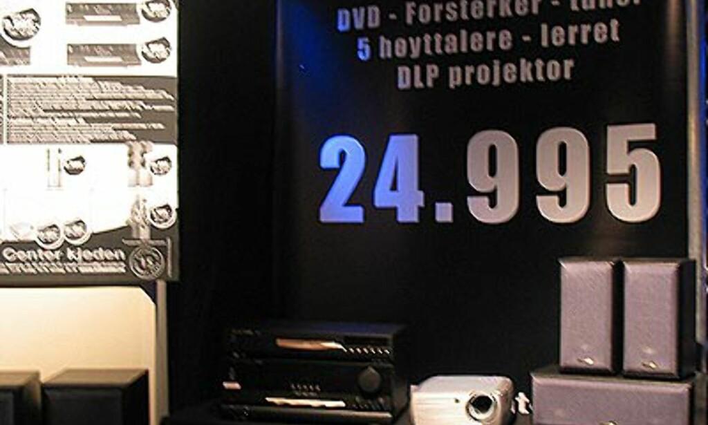 Messetilbud inkl. projektor.