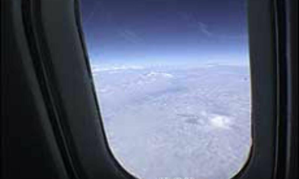 Concorde flyr så høyt at du kan se jordens krumning. <I>Foto: Pål Sigurd Anthonsen</I> Foto: Pål Sigurd Anthonsen