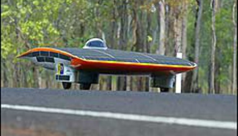 Nuna II som satte rekord tvers over Australia. Foto: David Hancock/World Solar Challenge Foto: Foto: David Hancock/World Solar Races