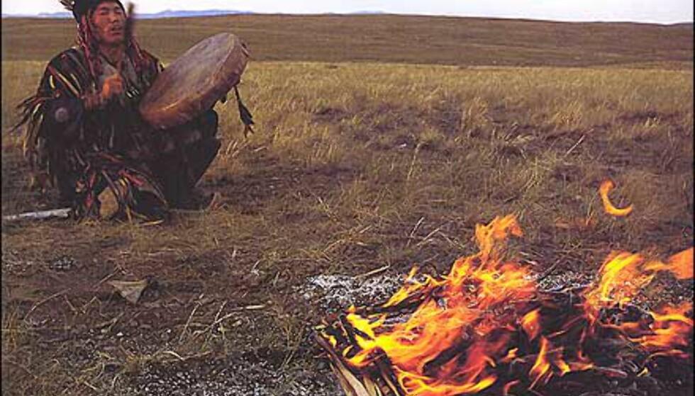 Trollmann fra Tuva-folket i Sibir. Faksimile fra boka. Gjengitt med tillatelse fra Orion forlag.