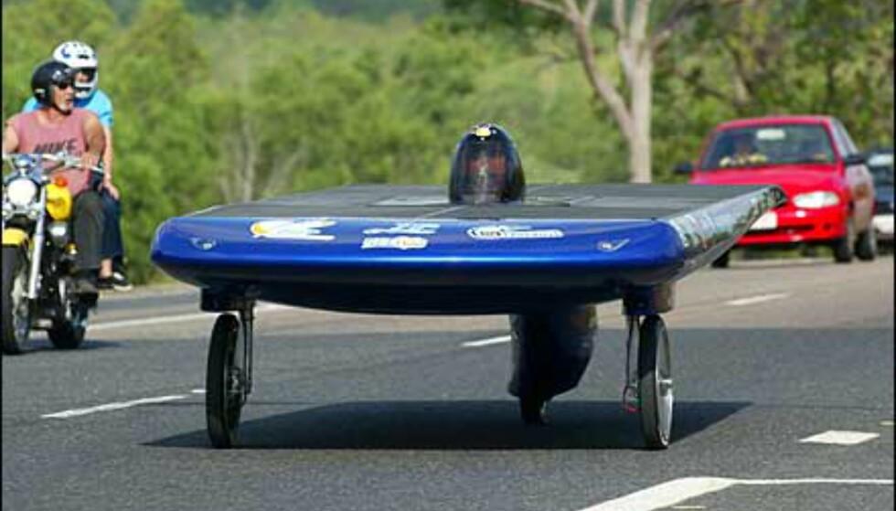 Deltakerbilen France. Foto: Foto: David Hancock/World Solar Races