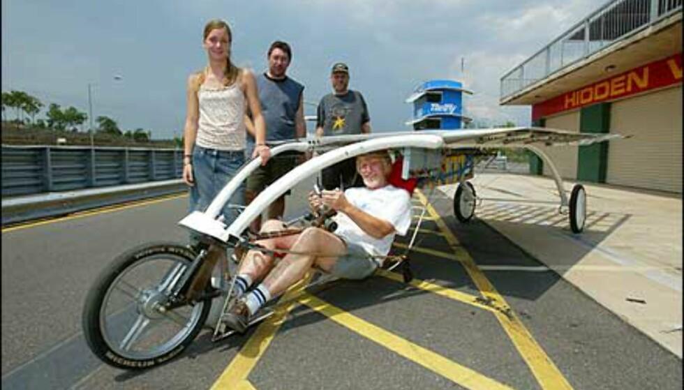 Sykkel eller bil? Heliodet kaller designerne denne saken. Foto: Foto: David Hancock/World Solar Races
