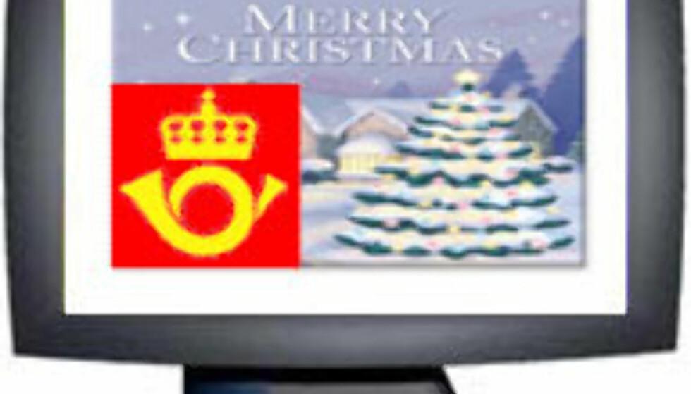 Ekte julekort via Internett
