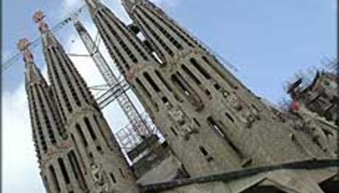 Temple de la Sagrada Familia, Barcelonas spektakulære kirke står fremdeles ikke ferdigstilt.<br /> <br /> <I>Foto: Inga Holst</I> Foto: Inga Holst