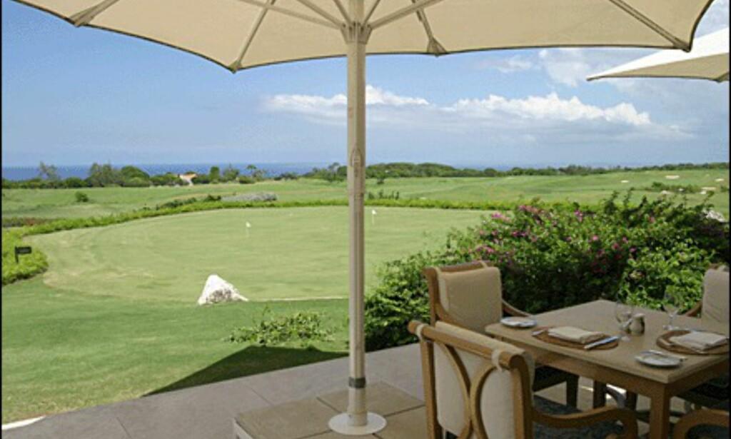 Utsikten er upåklagelig fra golfanlegget.