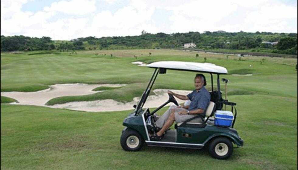 Rike europeere trives på golfanlegget.